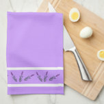 "Lavender Kitchen Towel<br><div class=""desc"">This kitchen towel features cute lavender stems to help make your kitchen cheery.</div>"