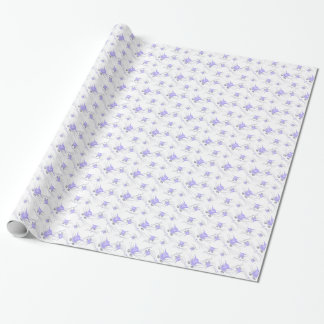 Lavender Kitty Cat Faces  Wrapping Paper