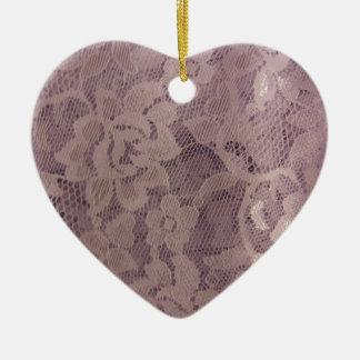 Lavender Lace Ceramic Ornament