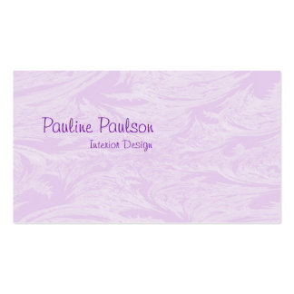 Lavender Lace Double-Sided Standard Business Cards (Pack Of 100)