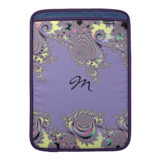 Lavender Lace Mandelbrot Monogram Sleeves For MacBook Air