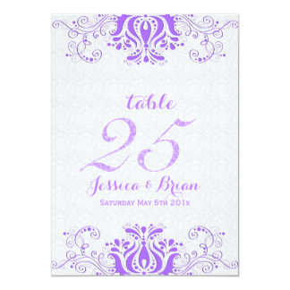 Lavender Lace & White Wedding Table Number 2