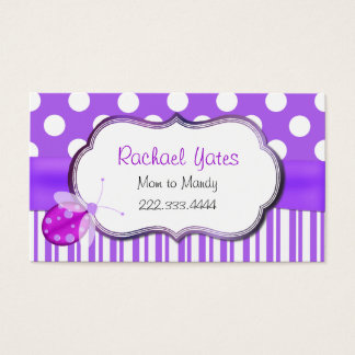 Lavender Ladybug Mommy Play Date Card