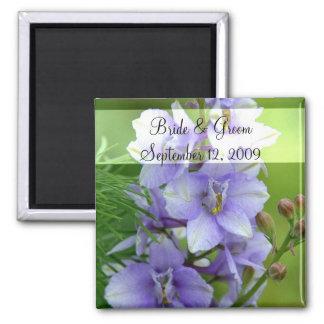 Lavender Larkspur Wedding Magnet