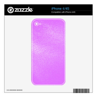 Lavender Leather Look Skin For iPhone 4