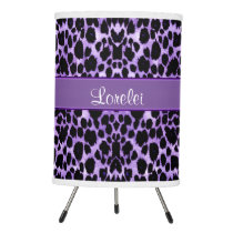 Lavender Leopard Animal Print Personalized Lamp
