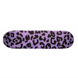 Lavender Leopard Animal Print Skateboard Deck