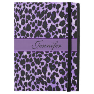 Lavender Leopard Personalized Animal iPad Pro Case