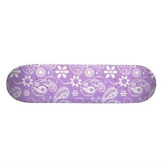 Lavender, Light Purple Paisley Skate Boards