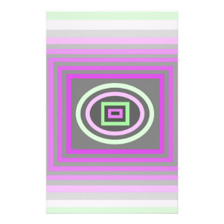 Lavender Lilac Purple and Sea Foam Green Funky Stationery