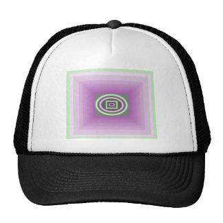 Lavender Lilac Purple and Sea Foam Green Funky Trucker Hat