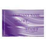 lavender lilac purple hair salon beauty SPA Flyer