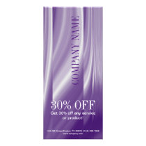 lavender lilac purple hair salon beauty SPA Rack Card