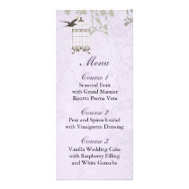 Lavender Lilac vintage birdcage birds wedding Rack Card