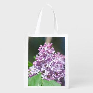 Lavender Lilacs Reusable Grocery Bag