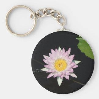 Lavender Lily Basic Round Button Keychain