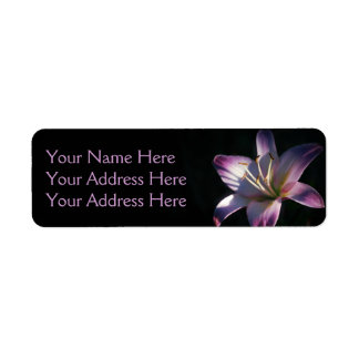 Lavender Lily Photo Label