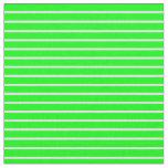 [ Thumbnail: Lavender & Lime Pattern of Stripes Fabric ]