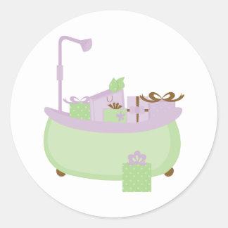 Lavender & Lime Tub Stickers