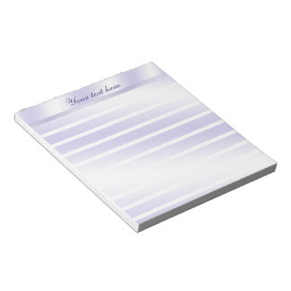Lavender Lined Personalized Notepad