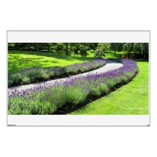 Lavender-Lined Walk Wall Sticker