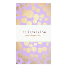 Lavender Linen and Gold Circles Look Beauty Salon Business Card Templates