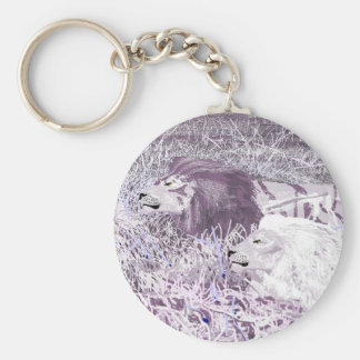 Lavender Lions Keychain