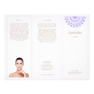 Lavender Lotus Mandala Salon Spa Tri-Fold brochure