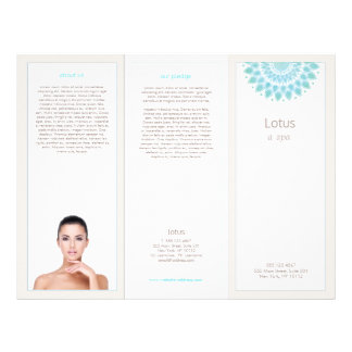 Lavender Lotus Mandala Salon Spa Tri-Fold brochure