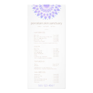 Lavender Lotus Natural Spa Salon Price List Menu