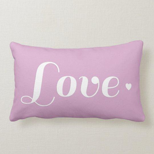 Lavender Love Heart Pillow Zazzle Com