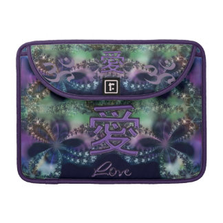 Lavender Love on Fractal Elegance Sleeve For MacBook Pro