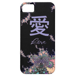 Lavender Love Symbol Chinese Character iPhone 5 Covers
