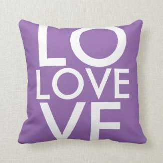 Lavender LOVE Throw Pillow