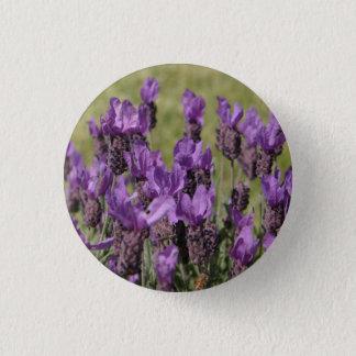 Lavender Meadow Flowers Pinback Button