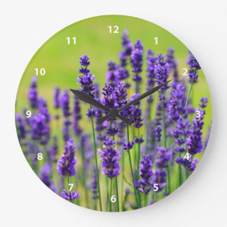 Lavender Meadow Large Clock