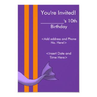 "Lavender Mermaid Tail Invitiation 1 3.5"" X 5"" Invitation Card"