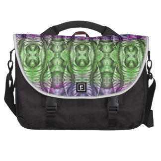 Lavender Mint Organic Wing Pattern Bags For Laptop