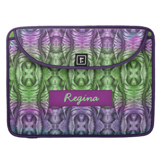 Lavender Mint Organic Wing Pattern Sleeve For MacBook Pro