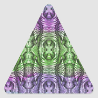 Lavender Mint Organic Wing Pattern Triangle Sticker