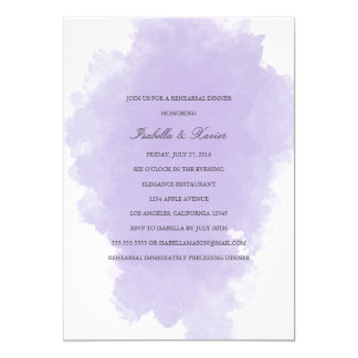 Lavender Mist | Rehearsal Dinner Invitation
