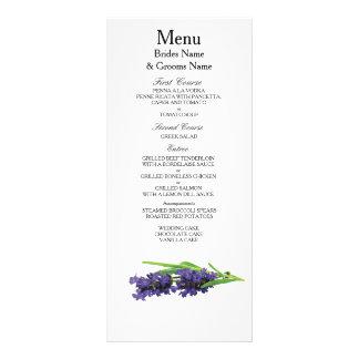 Lavender Modern Simple Elegant WeddingIdeas Rack Card