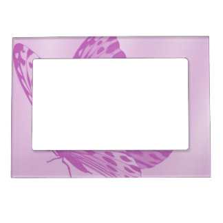 Lavender Monarch Butterfly Magnetic Picture Frame