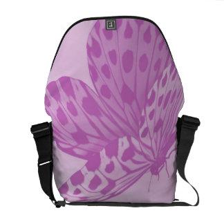Lavender Monarch Butterfly Messenger Bag