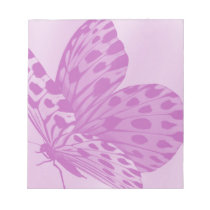 Lavender Monarch Butterfly Notepad