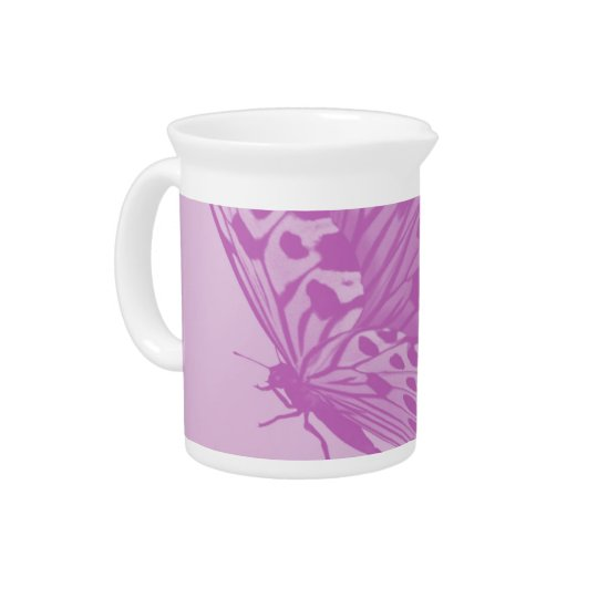 Lavender Monarch Butterfly Pitcher