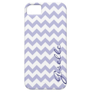 Lavender Monogram Chevron Zigzag Pattern iPhone iPhone SE/5/5s Case