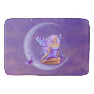 Lavender Moon Butterfly Fairy Bathroom Mat