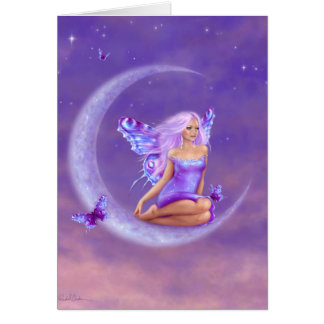 Lavender Moon Butterfly Fairy Greeting Greeting Card