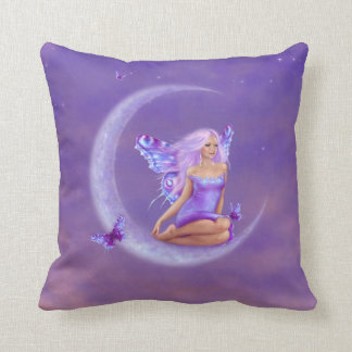 Lavender Moon Butterfly Fairy Pillow Pink & Purple